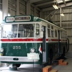 大阪市営トロリーバス200形255 森之宮検車場