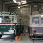大阪市営トロリーバス200形255&大阪市電801形801 保存車