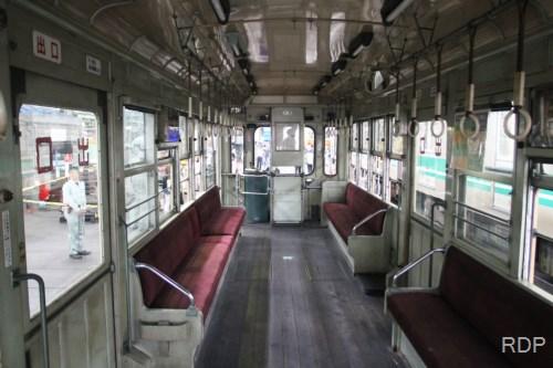 大阪市電2201形2201 車内 森之宮検車場