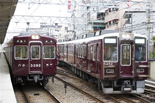 阪急電鉄8450形8452&3350形3392 [0001822]