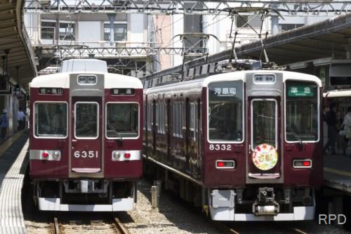 阪急電鉄8300形8332『古都』&6350形6351 [0001930]
