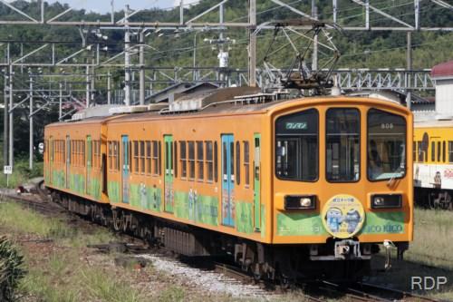 近江鉄道モハ809 近江キャラ電