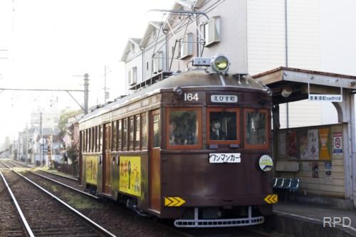 阪堺電軌モ161形164 初詣輸送