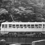 東武鉄道日光軌道線100形107 神橋 サイドビュー 昭和20年代