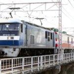 EF210-159+EH800-11+コキ107 京都鉄道博物館展示回送