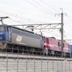 EF200-20+EH800-11+コキ107 京都鉄道博物館展示返却回送