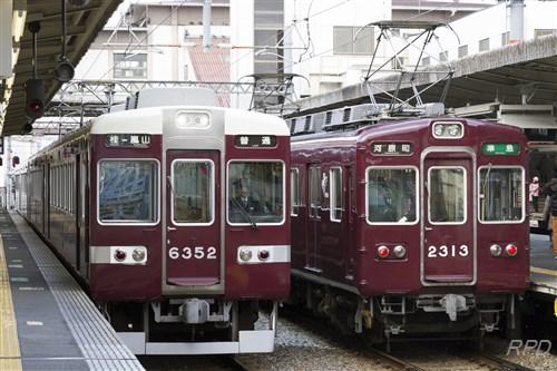 阪急電鉄6350形6352&2300形2313 [0001842]