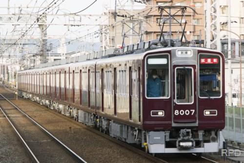 阪急電鉄8000形8007 試運転 [0002115]