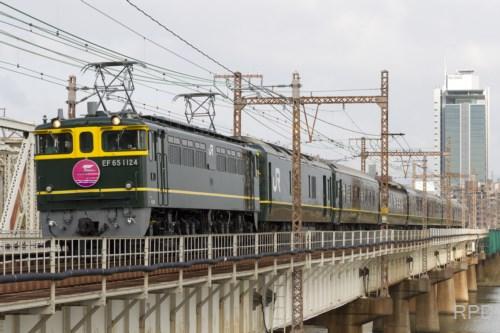 EF65 1124 特別なトワイライトエクスプレス 上淀鉄橋