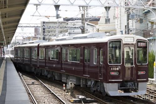 阪急電鉄1100形1108 試運転