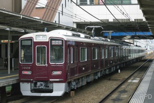 阪急電鉄1000系1008F 試運転