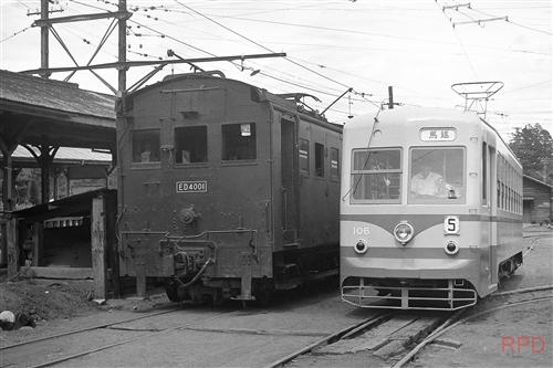 東武鉄道日光軌道線ED4001&100形106
