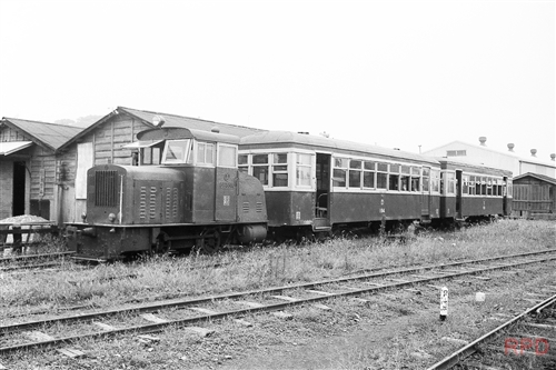 静岡鉄道駿遠線DB607+ハ104+ハ106?