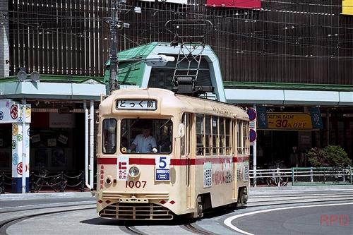 函館市電1000形1007 都電塗色